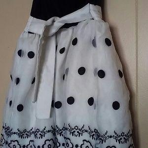 Girls Black/White/Poka Dot Dress